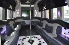2007 White 24 passenger Ford E450 Party bus for sale #2438