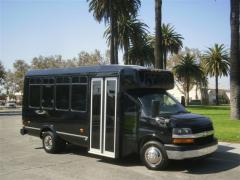 2007 Black Chevy Express G3500 24 Passenger Party Bus for Sale #2435