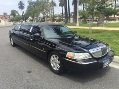 2007 Black 72-inch Lincoln Towncar Limo for Sale #7235