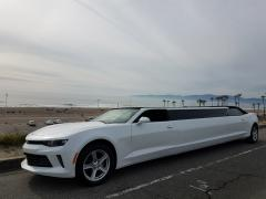 2017 White 140-inch Chevy Camaro Convertible Limo