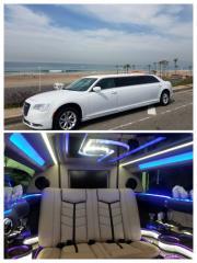 2016 New White 70-inch stretch 6 passenger Chrysler 300 Limo for Sale