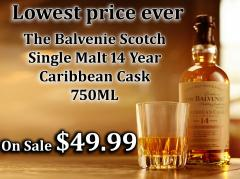 The Balvenie Scotch Single Malt 14 Year Caribbean Cask 750ML