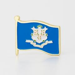 Connecticut American Flag Lapel Pin