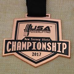 Powerlifting Championship Custom Medals