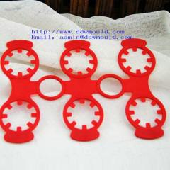 DDW 6 hole plastic buckle plastic handle for PET water bottle