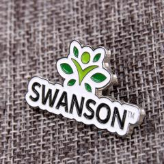 Green swanson lapel pins