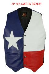 New Texas Flag Color Leather Vests 2018 Stock All Sizes Hi Quality Cp Brand
