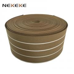 China Marine Boat Yacht synthetic teak PVC decking for boats