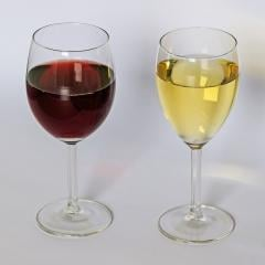 Red and white wine