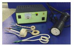 Induction heating device for repair technologies
