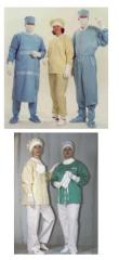 Sets of barrier surgical clothing to protect...