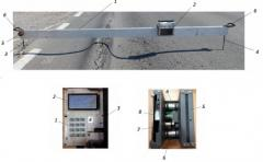 A device for measurement of rut road coverings PP216