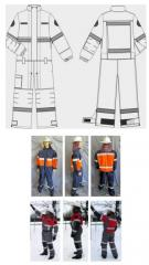 Protective overalls for conducting rescue...