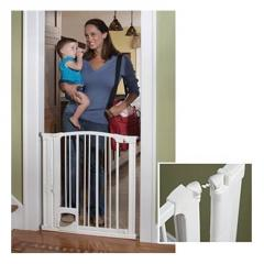 Hands-Free, Auto Close Pressure Mounted Baby Gate