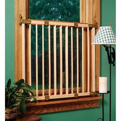 Extra Tall Wood Window Barrier