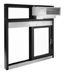 Window and air curtain combination unit