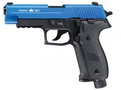RAM X50 Paintball Pistol,  LE Blue Slide