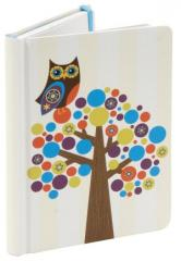 Owl Bubble Tree Recycled Lined Journal (5x7)