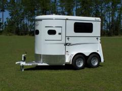 2-Horse Super Bee Walk Through Trailer