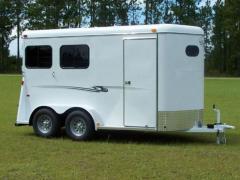 K&K 2 Horse Bumper Deluxe Trailer
