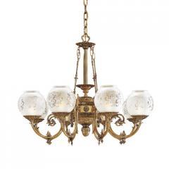 Metropolitan Lighting Vintage Eight-Light Etched