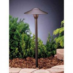 Textured Architectural Bronze Dome Path Light