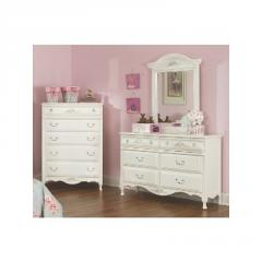 Summerset White Youth Dresser, Mirror and Chest