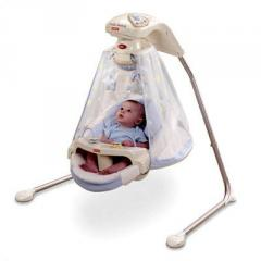 Papasan Baby Cradle Swing in Starlight White