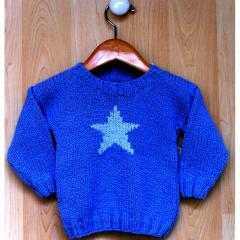 Blue Star Sweater