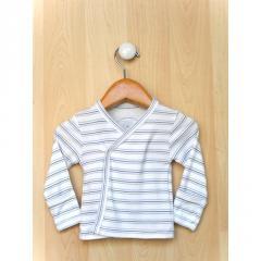 Blue Stripe Long Sleeve Cross Tee