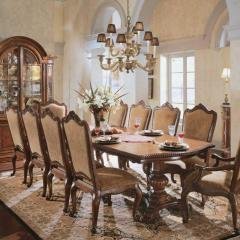Double Pedestal Dining Room Table, Villa Cortina