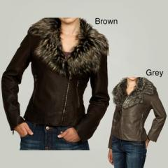 Designer leather jackets with fur