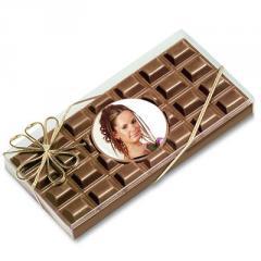 Tablette chocolat visuel rond
