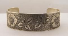 B017.c | Antique | Engraved Bracelet | Die Struck