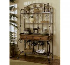 Harmony Buffet Hutch Harmony Antique Oak finish