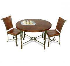 Medley Round Dining Table Penny Patina / Wildwood