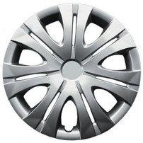 KT ABS Plastic Aftermarket Wheel Cover 16 inch Silver 4 Piece