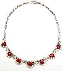 Plat Ruby/Diamond Necklace