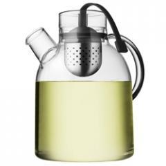 Glass teapot with tea egg