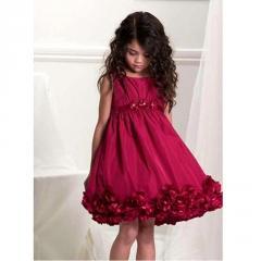 Sleeveless Flower Empire Waist Dress Girls