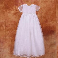 Baby Girl White Christening Baptism Gown Bonnet