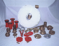 FIRE HOSES, NOZZLES, AND ADAPTERS