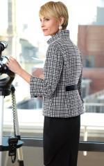 Female jacket Cotton Grids Suzanne 3/4 Sleeve