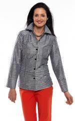 Female shirt Silk Dupioni Mini Gingham Check Cara