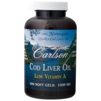 Cod Liver Oil 1000 mg 100% Norwegian (Low Vitamin