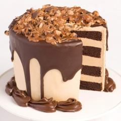 Chocolate Layer Cake with Coffee Buttercream