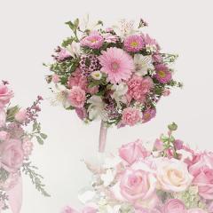 Pink Gerbera Daisy & Carnation Bouquet