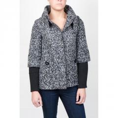 Tweed High Collar Coat