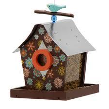 Retro Chic Birdhouse-Flower Power