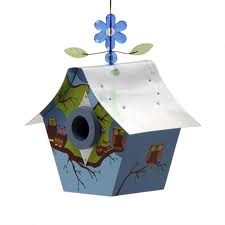 Retro Chic Birdhouses- Owl Family